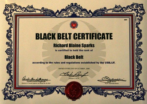 black belt certificate template - untitled document